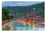 View of Glenwood Hot Springs in early evening