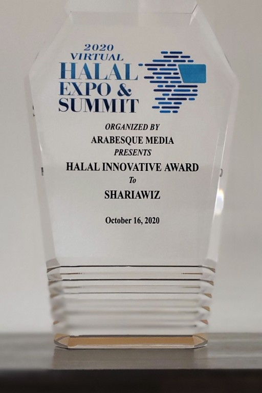 Shariawiz Honored as the Best Innovative Halal Solution at the Halal Expo and Summit 2020