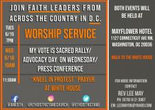 Faith Leader DC Rally