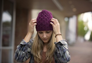 Gathered Knit Winter Hat by Swell Knits