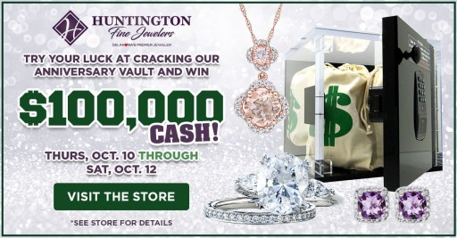 Win Up to $100,000 or a Trip for Two to Vegas at Huntington Fine Jewelers This Month