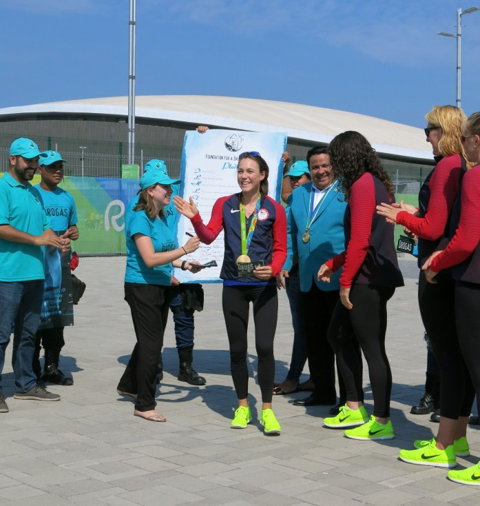 Gold Medalist Rowing Coxswain Katelin Snyder and Drug-Free World in Rio