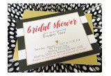 Black, Red & Gold Bridal Shower Invitation