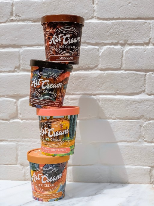 New Organic Ice Cream Combines Exotic and Traditional Flavors With Art