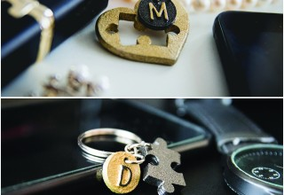 Romeo and Juliet personalized key chain set