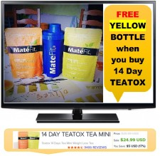 FREE YELLOW Shaker Teatox Bottle When you buy 14 Day Teatox TEA *Limited Time Offer*