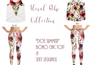 Doe Summer - Watercolor Floral Boho Collection