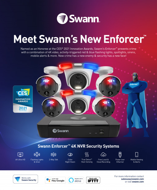Swann Security Announces New 4K NVR Enforcer™ Kit, Named a 2021 CES Innovation Award Honoree