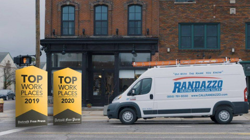 The Detroit Free Press Names Randazzo Heating & Cooling a Winner of the Detroit Top Workplaces 2020 Award for 2nd Year in a Row