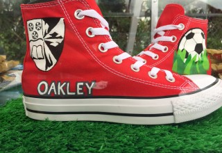 Personalized Red Converse for Oakley