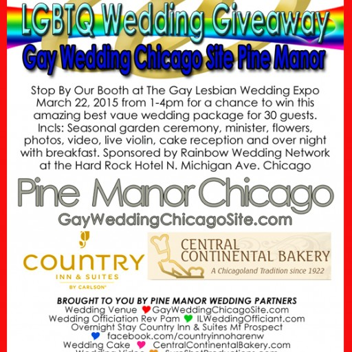 LGBTQ 2015 Chicago Gay & Lesbian Wedding Expo - Pine Manor Same Sex Wedding Giveaway