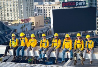 Last year's winning project was for solar at Petco Park