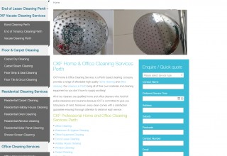 CKF Cleaning Services Website