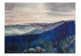 """View from Pisgah Inn"" watercolor painting"