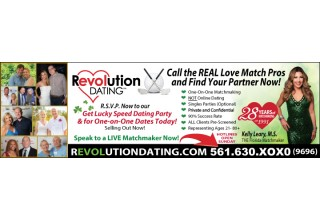 "Revolution Dating Brings the Largely Popular ""Speed Dating Mixer"" Back to Palm Beach."