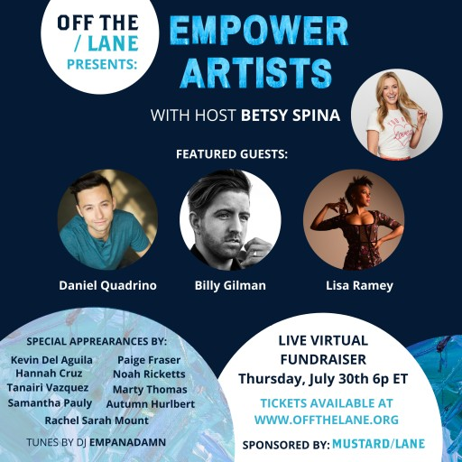 Off The Lane to Host First Annual 'Empower Artists' Virtual Fundraiser
