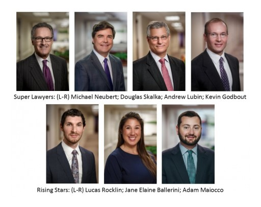 Neubert, Pepe & Monteith, P.C. Lawyers Recognized in Connecticut Super Lawyers 2018