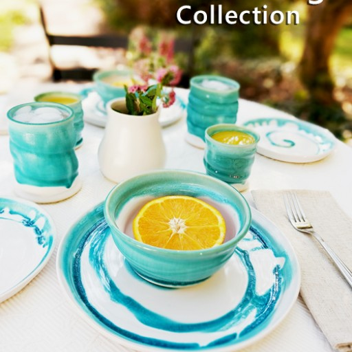 "Marie Kennedy Pottery Announces Launch of  ""Water's Edge Collection"" Capturing the Relaxed Feeling of Vacation"