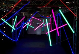 A Maze of Light Event Entrance Plunges Participants Into a 'Mission Possible' Theme
