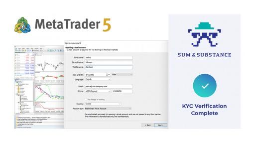 MetaTrader 5 Incorporates Trader KYC Verification From Sum&Substance