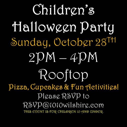 TenTen Wilshire Hosts Spooky Children's Halloween Party