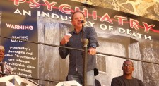 Dr. Koos Marais reveals the sordid history of psychiatry and its complicity in the policies of apartheid South Africa at the opening of the Citizens Commission on Human Rights traveling exhibit in Cape Town in November 2016.