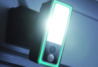 Ultra-Bright Floodlight with Audible and Visual Alarms