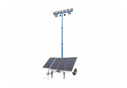 Larson Electronics LLC Releases Mobile 20 Foot 400-Watt Solar Powered LED Light Tower