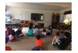 Author Erica L. Moffett Visiting Children on Spring Break