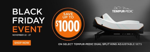 Mattress Kings in Miami Has an Upcoming Black Friday Sale, Up to $1000 Off TEMPUR-PEDIC Dual Split King Adjustable Sets
