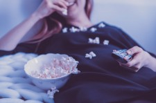 Lazy Person Eating Popcorn