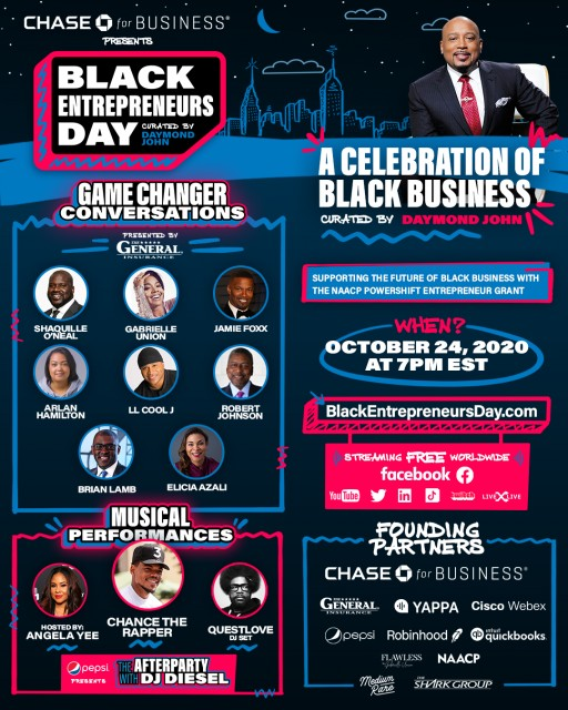 Black Entrepreneurs Day Presented by Chase for Business: A Celebration of Black Business Curated by Daymond John