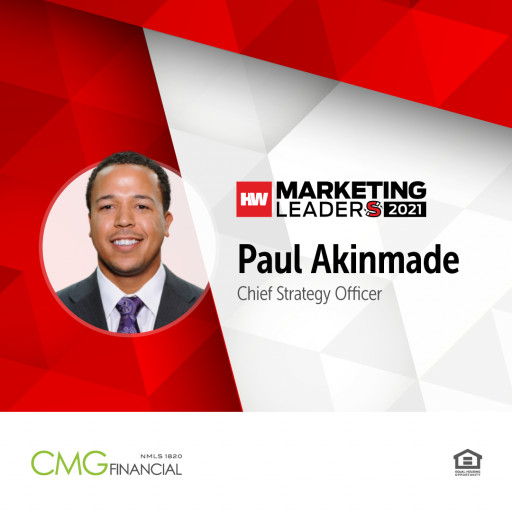CMG Financial's Paul Akinmade Recognized as 2021 HousingWire Marketing Leader