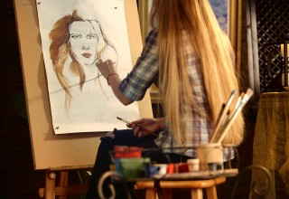 Artist at her Easel