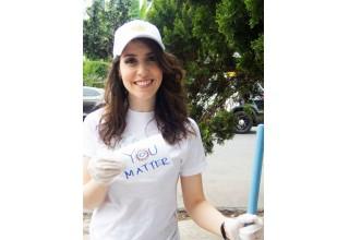 One of the volunteers