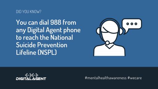 Digital Agent Enables 988 Suicide Prevention Number
