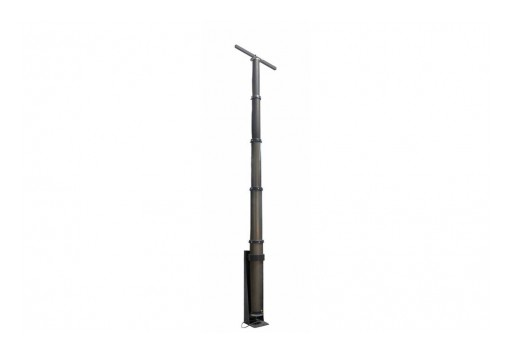 Larson Electronics Releases Pneumatic Light Tower Mast, 4.5' to 15', 10/3 Coiled Internal Wiring