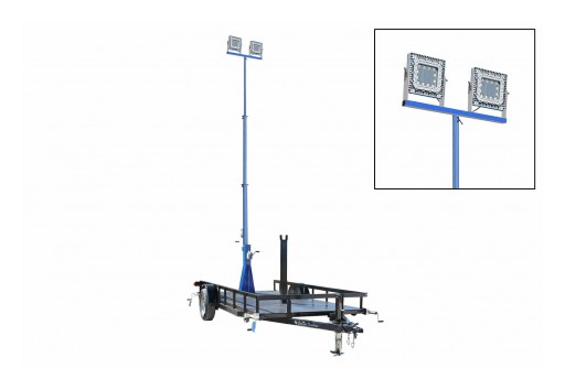 Larson Electronics Releases 30' Explosion-Proof Light Mast With 14' Trailer, 300 Watts, 50' SOOW Cord