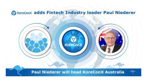 KoreConX Adds Fintech Industry Leader Paul Niederer