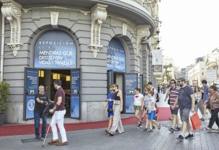 The exhibit welcomed close to 2,000 visitors in Madrid