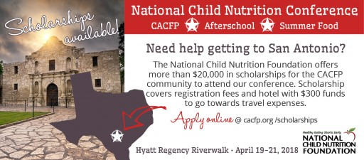 National Child Nutrition Foundation to Award $20,000 in Scholarships for Professional Development