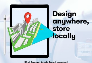 Design anywhere, store locally