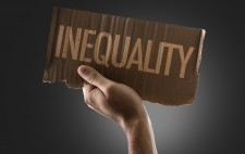 Cardboard Sign Reading Inequality