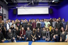 'Atypical' staff meets with Exceptional Minds artists and animators.