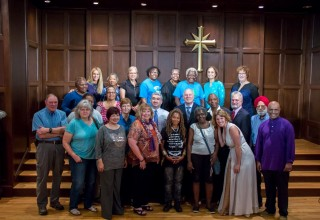 Diverse religions gathered