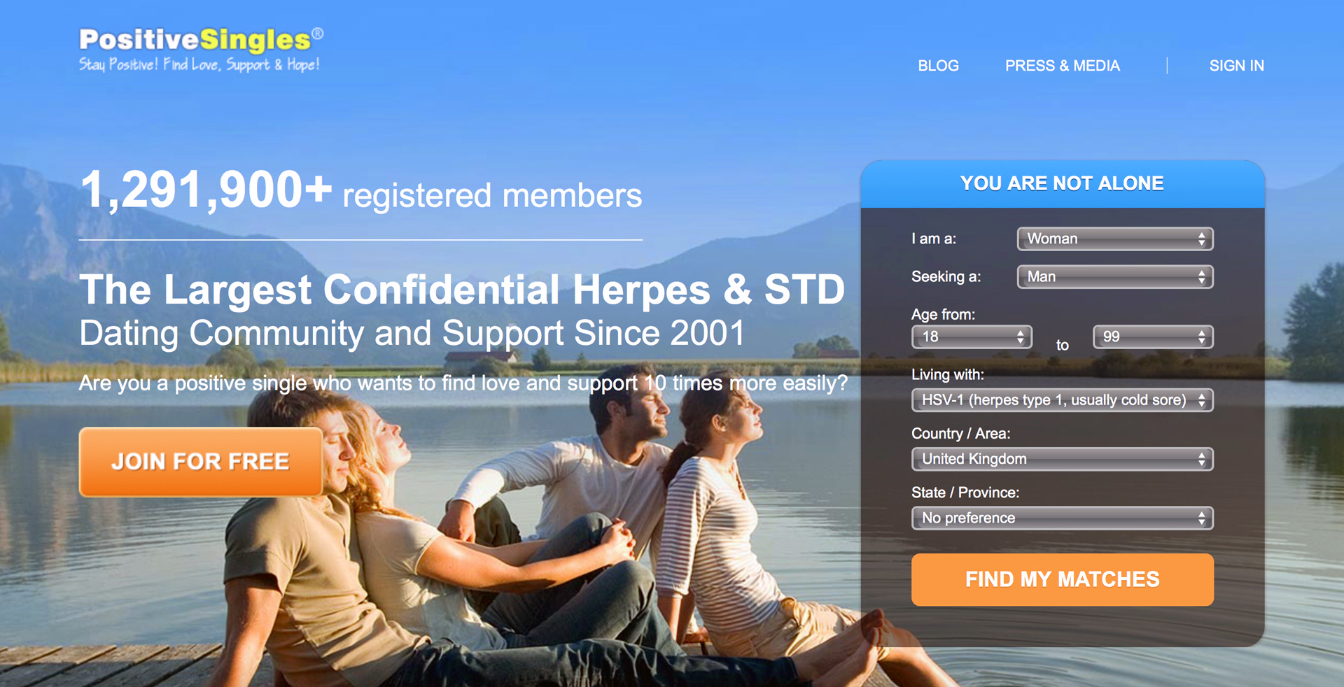 Free dating with herpes site