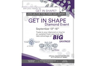 Get in Shape Diamond Trade-In event flyer