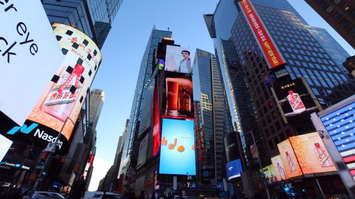 Chinese National Liquor Moutai Wins International Fans in Times Square