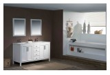 Modern bathroom vanities in white