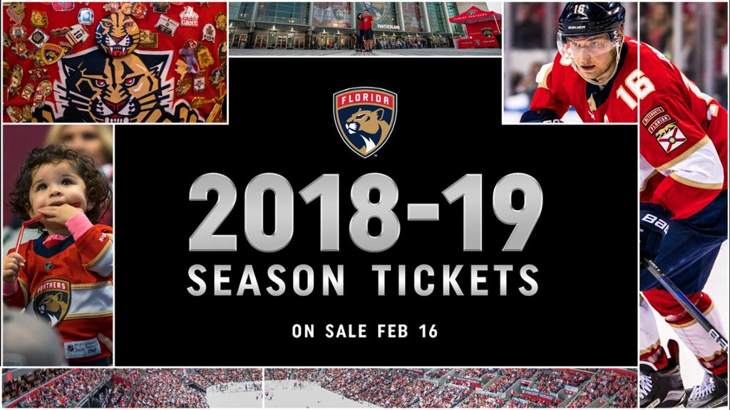 Panthers Season Tickets Available for the 2018-19 Season on February ... edb179ef9
